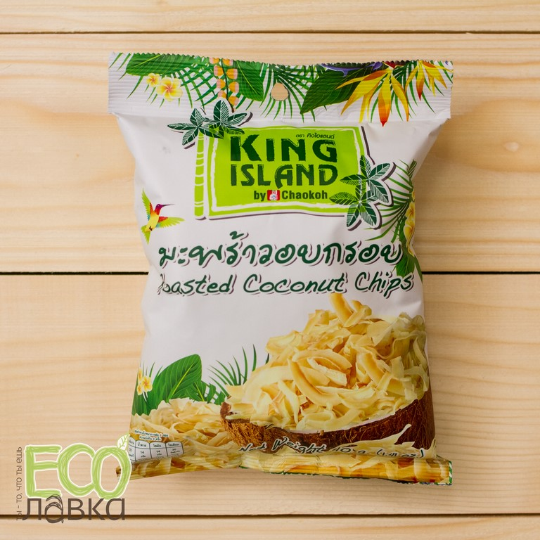 "Кокосовые чипсы ""King Island"", 40гр/Roasted Coconut Chips ""King Island"", 40g"