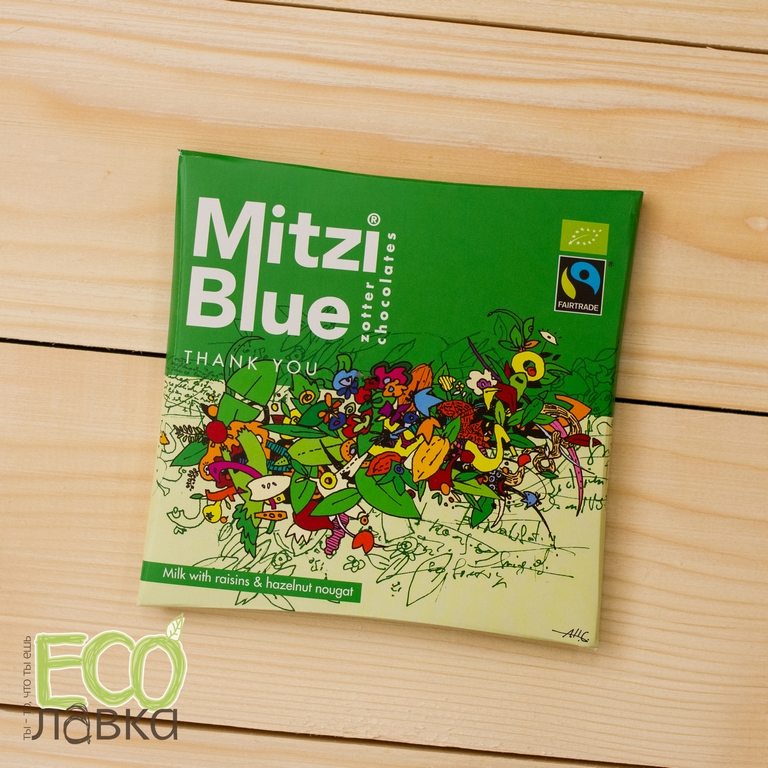 "Шоколад Mitzi Blue ""Большое спасибо"", 65гр/Chocolate Mitzi Blue ""Thank you"", 65g"