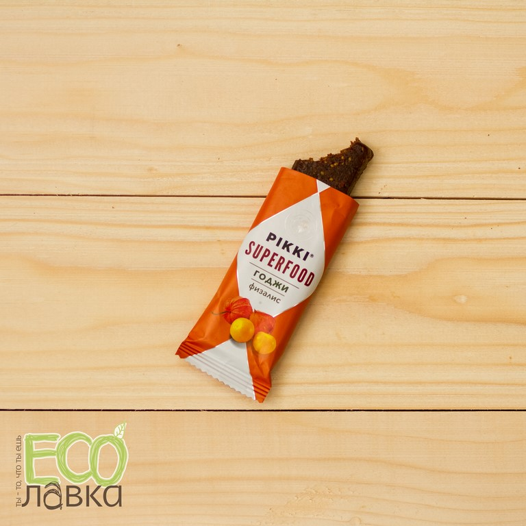 Батончик Pikki Годжи-физалис, 35 гр/Bar Pikki Goji-golden berry, 35g