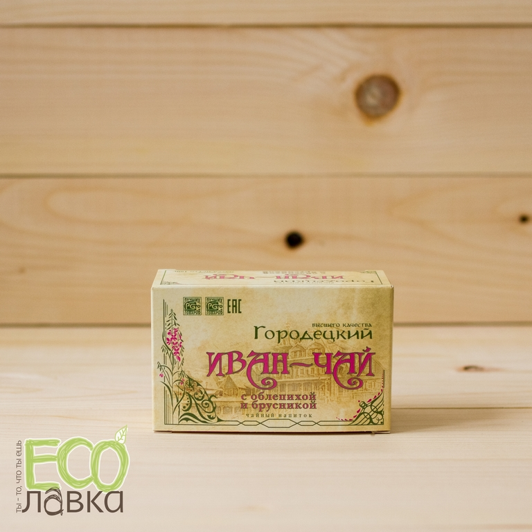 Городецкий ИВАН-ЧАЙ с облепихой&брусникой, 100гр/Gorodetsky Blooming Sally, 100g