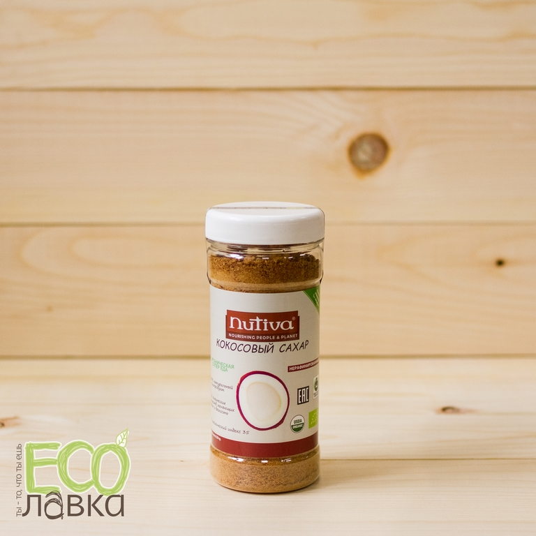 Кокосовый сахар органический Nutiva, 250гр/Coconut Sugar Nutiva Raw Organic, 250g