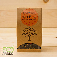 Черный чай Royal Forest Кэроб&клубника&годжи, 75гр/Black Tea Royal Forest Carob&Strawberry&Goji, 75g