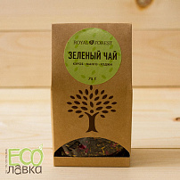 Зеленый чай Royal Forest Кэроб&манго&годжи, 75гр/Green Tea Royal Forest with Carob&Mango&Goji, 75g
