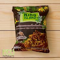 "Кокосовые чипсы ""King Island"" с шоколадом, 40гр/Roasted Coconut Chips Coated with Chocolate, 40g"
