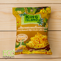 "Кокосовые чипсы ""King Island"" с карамелью, 40гр/Roasted Coconut Chips Coated with Caramel, 40g"